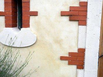 Finition façade à la chaux